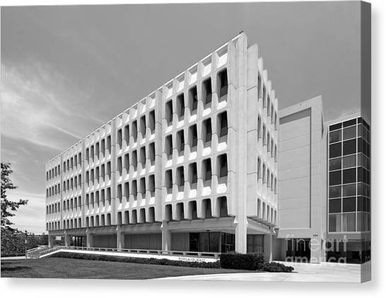 Uc Irvine Canvas Print - University Of California Irvine Rowland Hall by University Icons