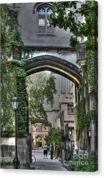 University Of Chicago Quad Canvas Print by David Bearden