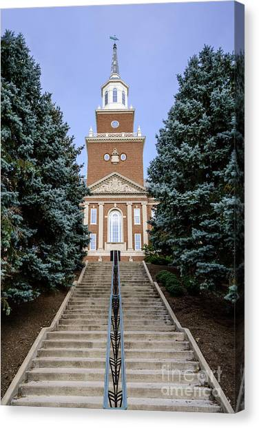 University Of Cincinnati Canvas Print - University Of Cincinnati Mcmicken Hall by Paul Velgos