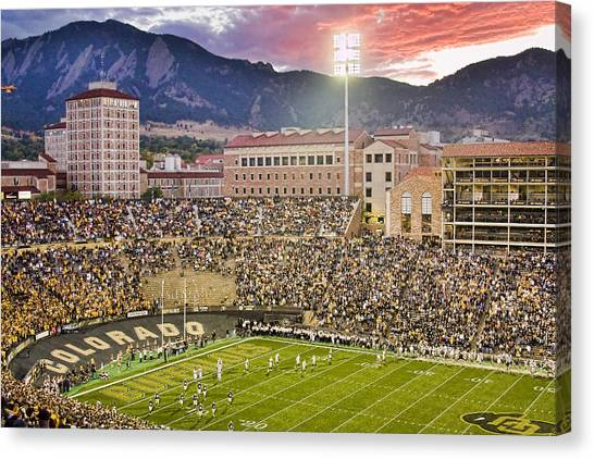 Colleges And Universities Canvas Print - University Of Colorado Boulder Go Buffs by James BO  Insogna