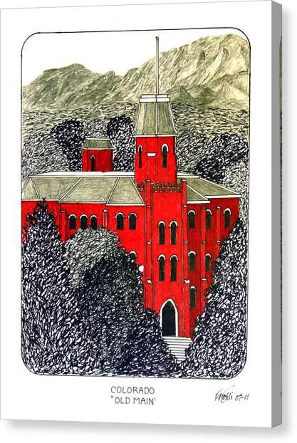 University Of Colorado Canvas Print - University Of Colorado by Frederic Kohli
