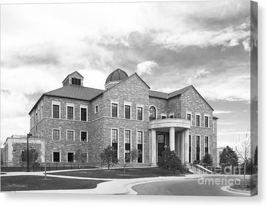 University Of Colorado Canvas Print - University Of Colorado Koelbel Building by University Icons