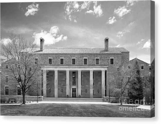 University Of Colorado Canvas Print - University Of Colorado Norlin Library  by University Icons