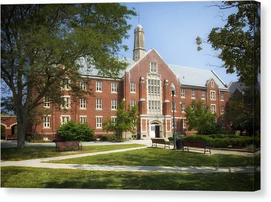 University Of Connecticut Canvas Print - University Of Connecticut Campus by Mountain Dreams