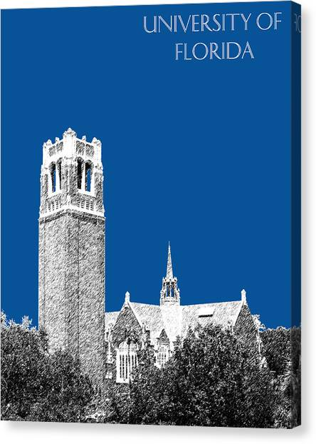 University Of Florida Canvas Print - University Of Florida - Royal Blue by DB Artist