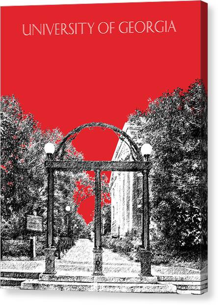 University Of Georgia Canvas Print - University Of Georgia - Georgia Arch - Red by DB Artist