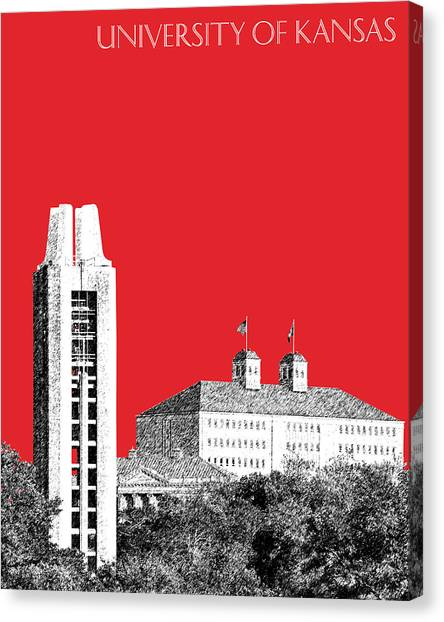 Big Xii Canvas Print - University Of Kansas - Red by DB Artist