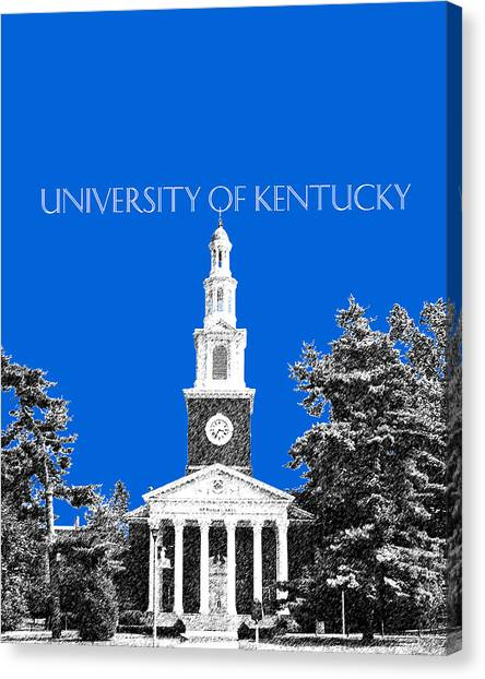 Colleges And Universities Canvas Print - University Of Kentucky - Blue by DB Artist