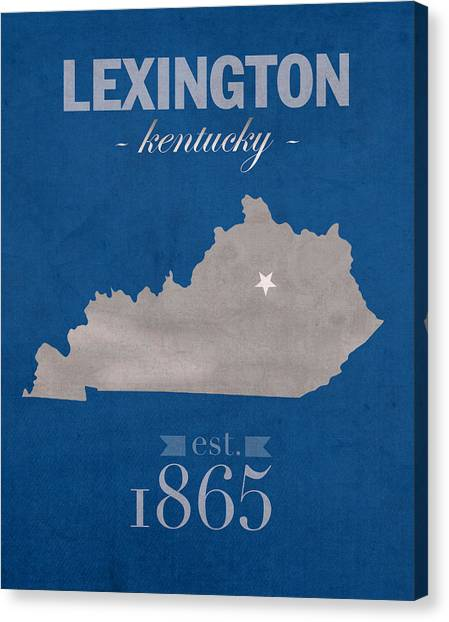 Sec Canvas Print - University Of Kentucky Wildcats Lexington Kentucky College Town State Map Poster Series No 054 by Design Turnpike