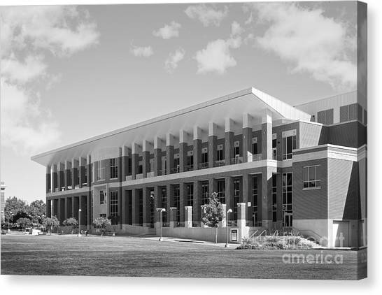 University Of Memphis Canvas Print - University Of Memphis University Center by University Icons