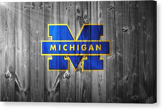 Colleges And Universities Canvas Print - University Of Michigan by Dan Sproul