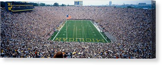 Michigan State University Canvas Print - University Of Michigan Football Game by Panoramic Images