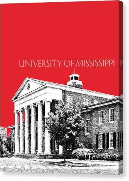 University Of Mississippi Ole Miss Canvas Print - University Of Mississippi - Red by DB Artist