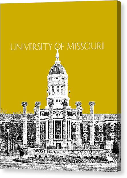 University Of Missouri Canvas Print - University Of Missouri - Gold by DB Artist