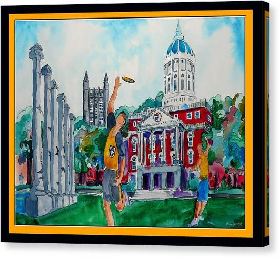 University Of Missouri Canvas Print - University Of Missouri - Francis Quadrangle by Dennis Weiser