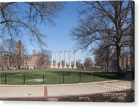 University Of Missouri Canvas Print - University Of Missouri Quad by Kay Pickens