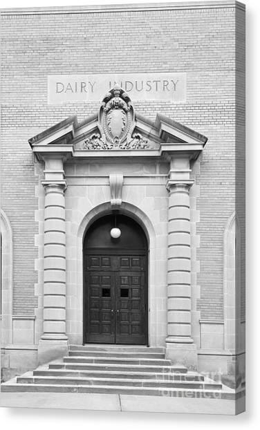 University Of Nebraska Canvas Print - University Of Nebraska Filley Hall Door by University Icons