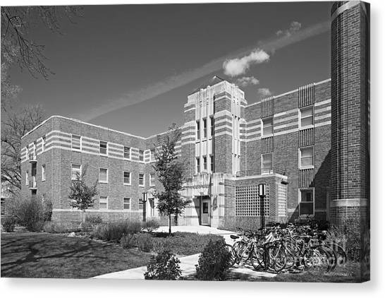 University Of Nebraska Canvas Print - University Of Nebraska Kearney Mens Hall by University Icons