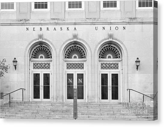 University Of Nebraska Canvas Print - University Of Nebraska Union Doors by University Icons