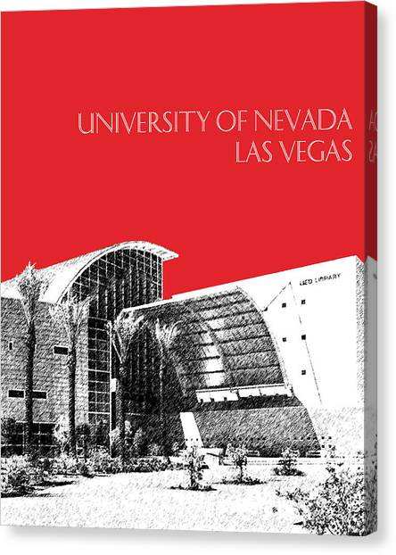 Mountain West Canvas Print - University Of Nevada Las Vegas - Red by DB Artist