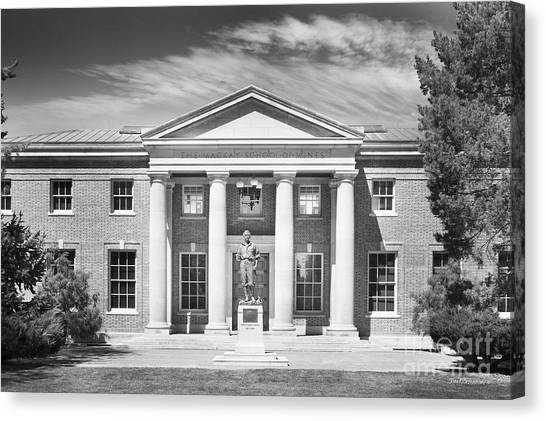 Mountain West Canvas Print - University Of Nevada Reno - Mackay Mines Building by University Icons