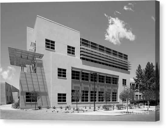 University Of New Mexico Unm Canvas Print - University Of New Mexico Castetter Hall by University Icons