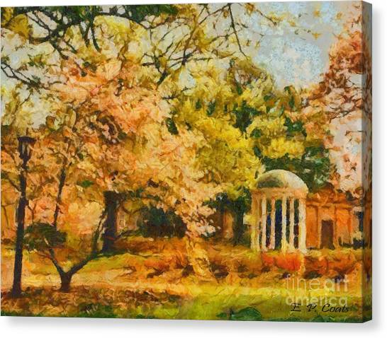 University Of North Carolina Chapel Hill Canvas Print - University Of North Carolina  by Elizabeth Coats