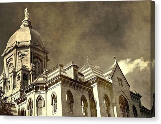 Notre Dame University Canvas Print - University Of Notre Dame by Dan Sproul