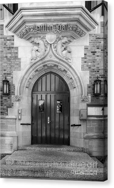 Degrees Canvas Print - University Of Notre Dame Dillon Hall by University Icons