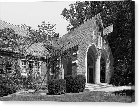 University Of Notre Dame Knights Of Columbus Council Hall Canvas Print by University Icons