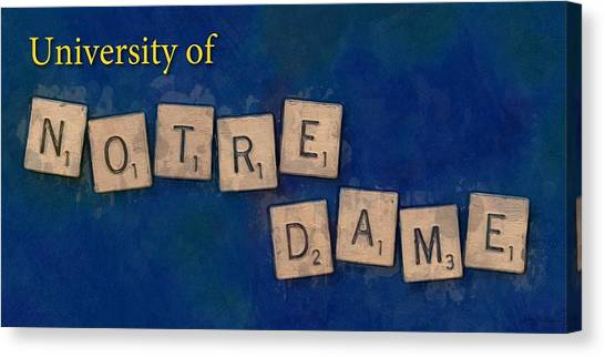 University Of Notre Dame Canvas Print