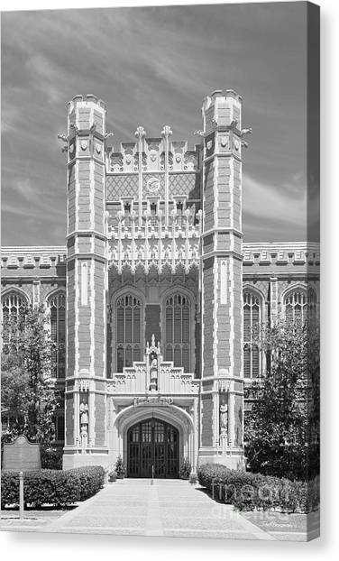 University Of Oklahoma Norman Campus University Of Oklahoma Canvas Print - University Of Oklahoma Bizzell Memorial Library  by University Icons