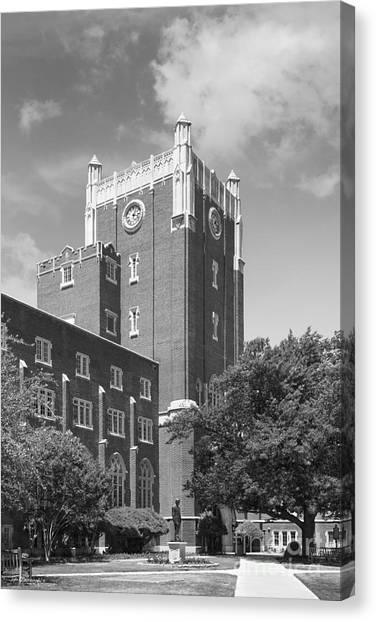 University Of Oklahoma Norman Campus University Of Oklahoma Canvas Print - University Of Oklahoma Union by University Icons