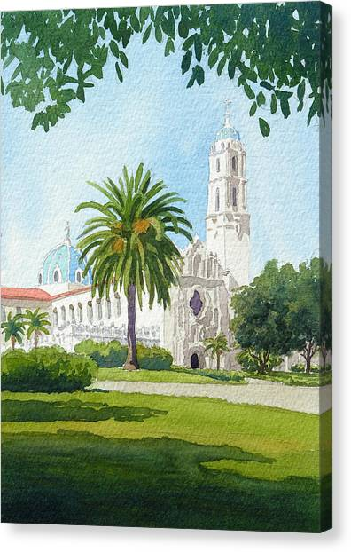 Mission Canvas Print - University Of San Diego by Mary Helmreich
