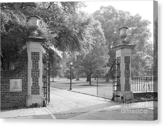 University Of South Carolina Canvas Print - University Of South Carolina Horseshoe Gate by University Icons
