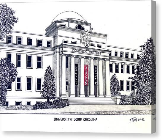 University Of South Carolina Canvas Print - University Of South Carolina by Frederic Kohli