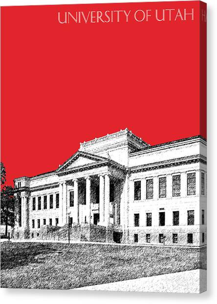 University Of Utah Canvas Print - University Of Utah - Red by DB Artist