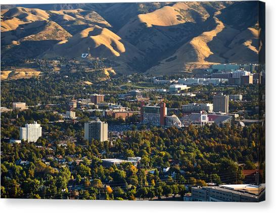 Pac 12 Canvas Print - University Of Utah Campus by Douglas Pulsipher