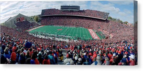 University Of Wisconsin - Madison Canvas Print - University Of Wisconsin Football Game by Panoramic Images