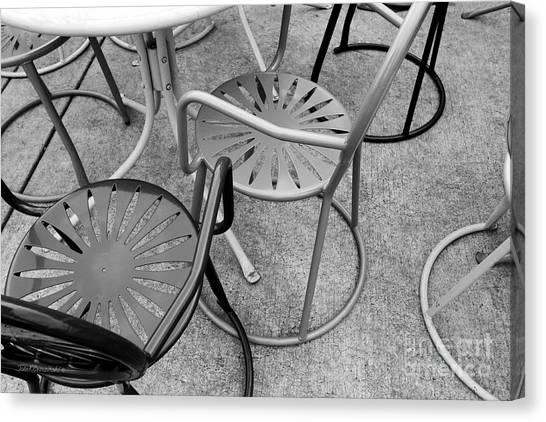 University Of Wisconsin - Madison Canvas Print - University Of Wisconsin Madison Terrace Chairs by University Icons