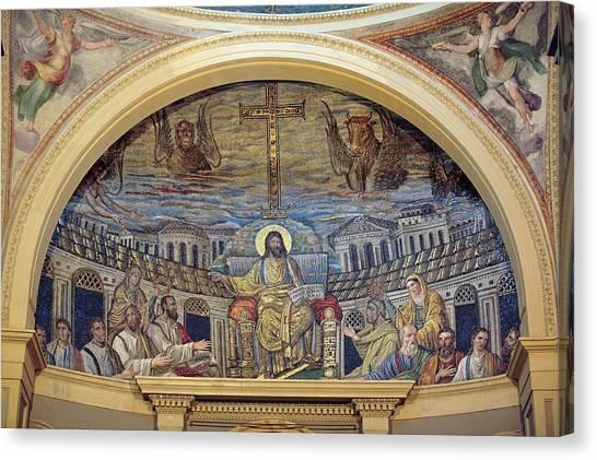 Early Christian Art Canvas Print - Unknown Artist, Christ Teaching by Everett