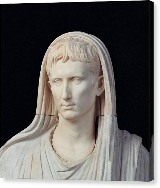Unknown Artist, Statue Of Augustus Canvas Print by Everett