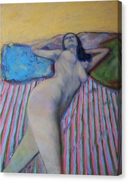Unknown Pleasure Canvas Print by Massimiliano Ligabue