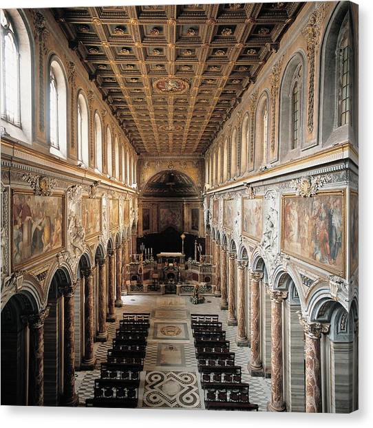 Early Christian Art Canvas Print - Unknown, San Marco Basilica, 336, 4th by Everett