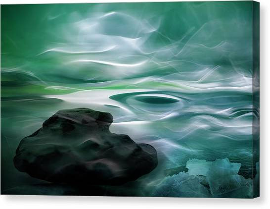 Unknown Waters Canvas Print by Willy Marthinussen