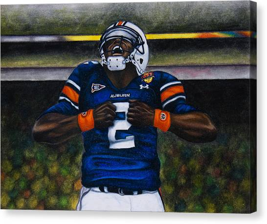 Cam Newton Canvas Print - Unleash by Lance Curry