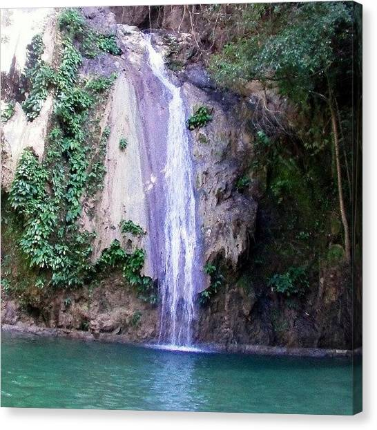 Waterfalls Canvas Print - Unnamed Falls In Palo Alto by Oscar Del Mundo