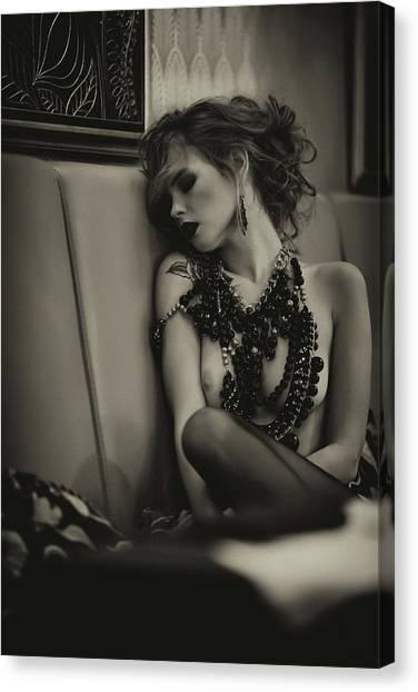 Necklace Canvas Print - Unprotected by Georgy Goryunov