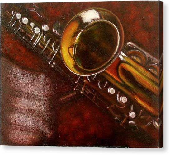 Unprotected Sax Canvas Print