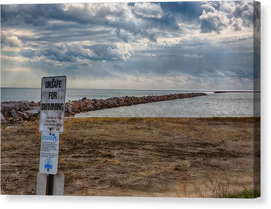 Unsafe For Swimming Canvas Print by Ricky L Jones